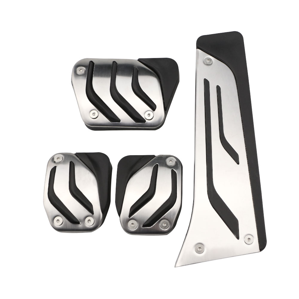 Xburstcar Stainless Steel Foot <font><b>Pedals</b></font> Rest for <font><b>BMW</b></font> X1 X3 X4 X5 X6 1/2/3/5/6/7 M3 E39 E46 E87 E90 E91 E92 Z4 <font><b>F30</b></font> F20 Car Styling image