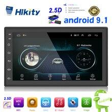 Hikity Android 2din автомобильный навигационный GPS радиоприемник мультимедиа вайфай MP5 плеер авторадио 2 Din 7 ''сенсорный экран Bluetooth FM аудио стерео