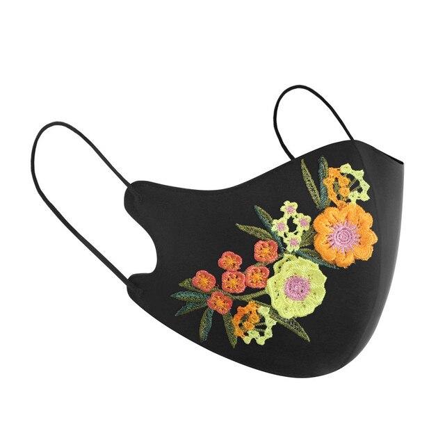 New Arrivals 2020 Washable Reusable Daisy Crane Pattern Face Mask 3D Cloth Dust proof Women Men Mouth Masks Unisex Korean 1