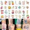 30pc/Lot Cartoon Small Tattoo Stickers Set Female Children Waterproof Cute Bear Rabbit Art Fake Tattoo Arm Clavicle Tattoo Tool