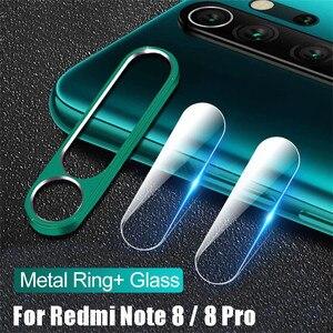 Защитное стекло для объектива камеры Xiaomi Redmi Note 8 pro, металлическая задняя защитная кольцевая защитная пленка для камеры Redmi Note 8