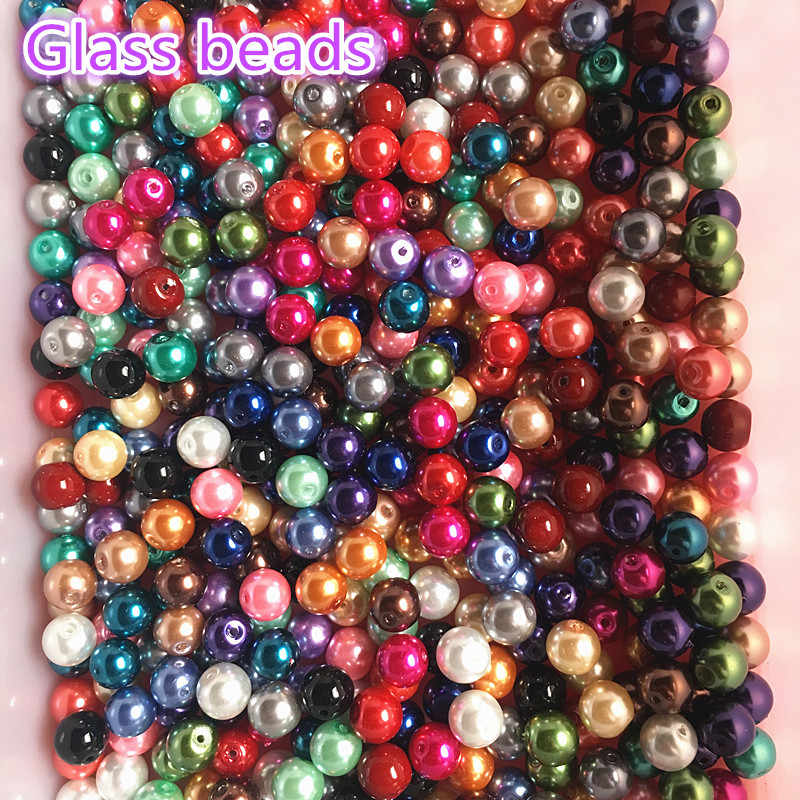 Wholesale 4/6/8/10mm Glass Beads Imitation Pearls Beads Round Pearl Beads For Jewelry Making DIY Bracelet Necklace
