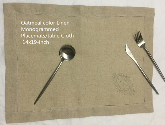 Set Of 12 Monogrammed Table Cloth 14