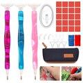 1 комплект 5D смолы инструменты для вышивки картин со стразами Наборы точечной фиксацией ручки глины с сумкой для хранения для вышивания кре...