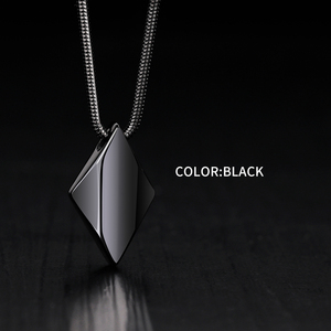 Image 3 - High Polished Tungsten Carbide Pendant Necklace for Man with 45/50/55cm Necklace, Engraving