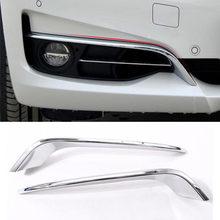 Para BMW Serie 3 GT Gran Turismo F34 2013-2018 ABS cromo frente lámpara de niebla tiras Set de molduras de 2 uds accesorios de coche