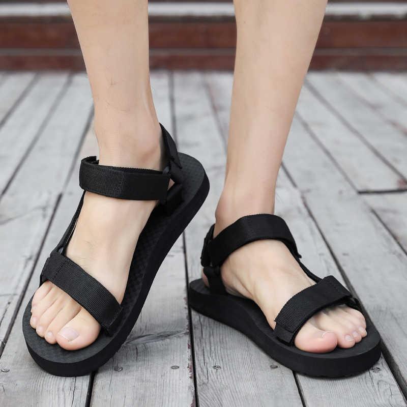 AODLEE yaz erkekler sandalet gladyatör plaj rahat ayakkabılar erkek terlikleri spor su Flip flop Sandalia Masculina Zapatos De Hombre