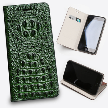 Leather Flip Phone Case For Xiaomi Redmi Note 9S 9 8 8T 8A 7 7A 6 6A 5 5A 4X K30 Poco F1 X2 X3 F2 Pro Crocodile Head Wallet Bag
