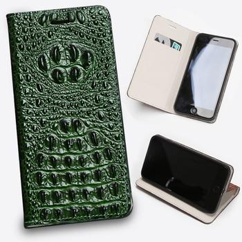Leather Flip Phone Case For Xiaomi Redmi Note 9S 9 8 8T 8A 7 7A 6 6A 5 5A 4X K30 Poco F1 X2 X3 F2 Pro Crocodile Head Wallet Bag