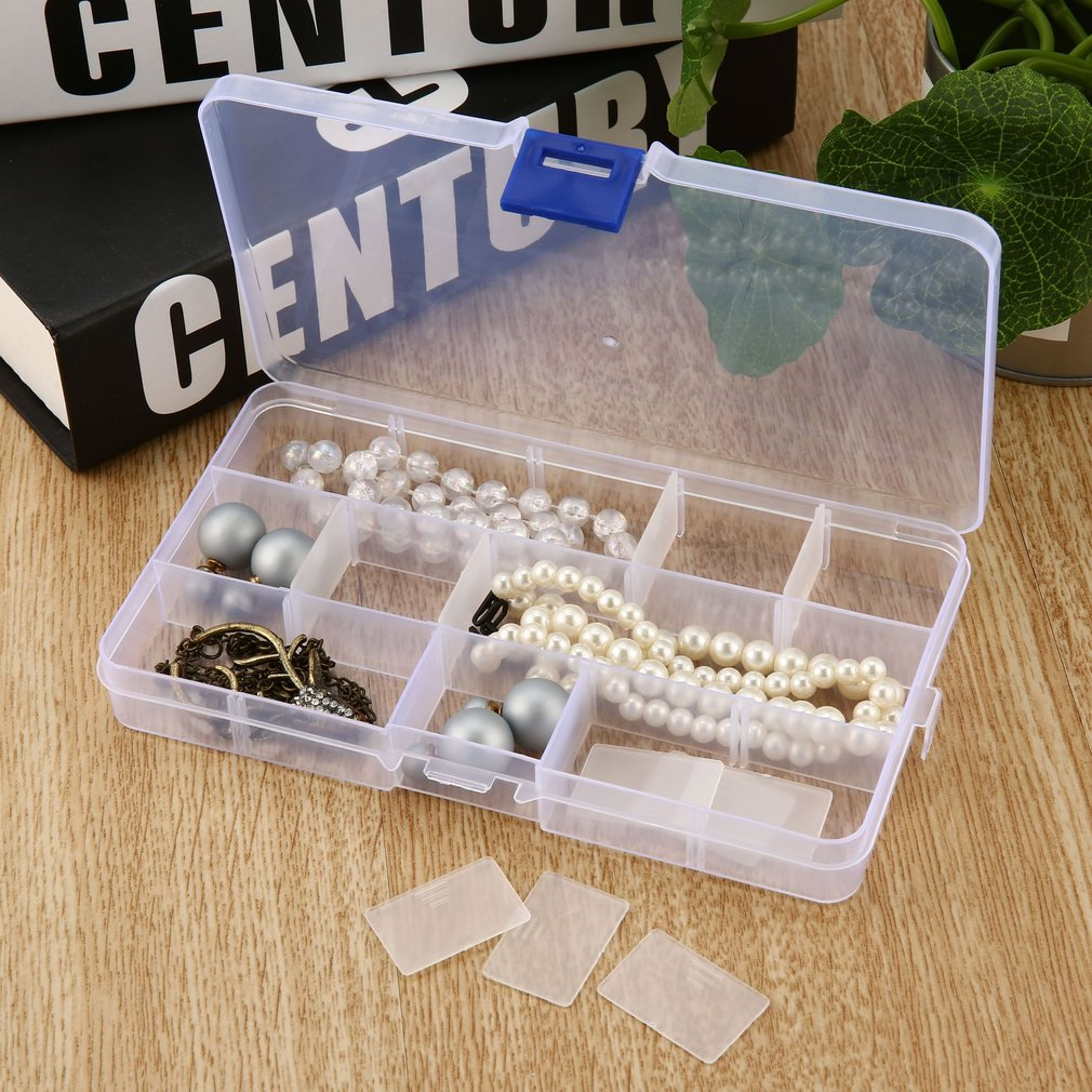 15 Slots Storage Box Jewelry Tool Box Case Craft Organizer Carrying Cases Storage Beads Jewelry Finding Plastic Boxes Quality