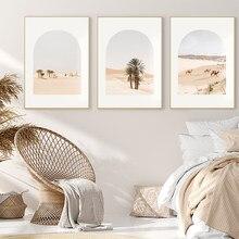 İskandinav Minimalist baskı posteri fas çöl bitkileri tuval boyama duvar sanatı resimleri oturma odası Modern ev dekor
