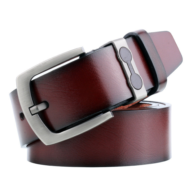 BROWN Genuine Leather Belt Waistband Snap on Belt Strap For Buckle Gift for men