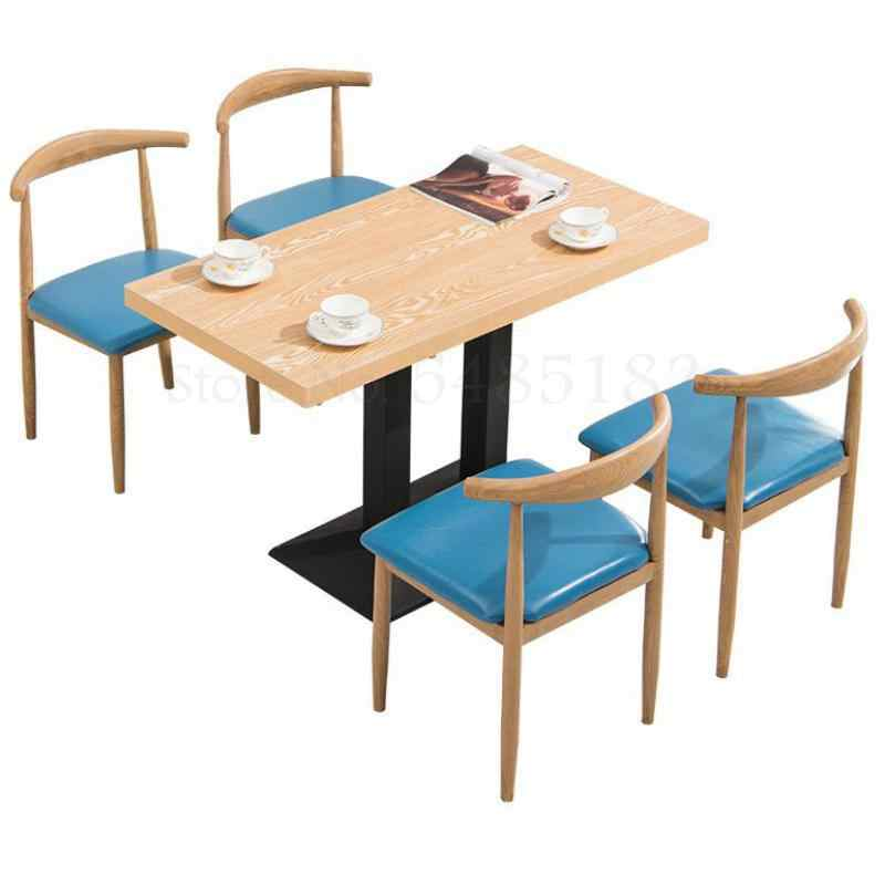 Fast Food Tables And Chairs Combination Snack Milk Tea Coffee Shop Dining Table And Chair Simple Iron Art Imitation Solid Cafe Tables Aliexpress