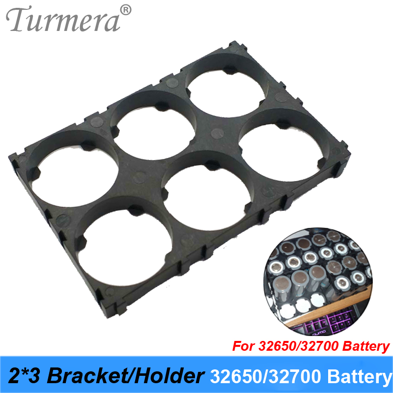 Turmera 32650 32700 2*3 Battery Holder Bracket Cell Safety Anti Vibration Plastic Brackets For 32650 32700 Battery Pack