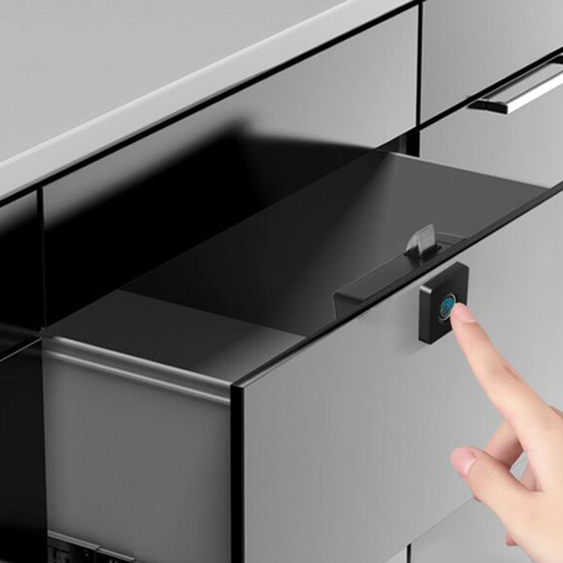 Hot 3C-Drawer Intelligent Electronic Lock File Cabinet Lock Storage Cabinet Fingerprint Lock Cabinet Door Fingerprint Lock Furni