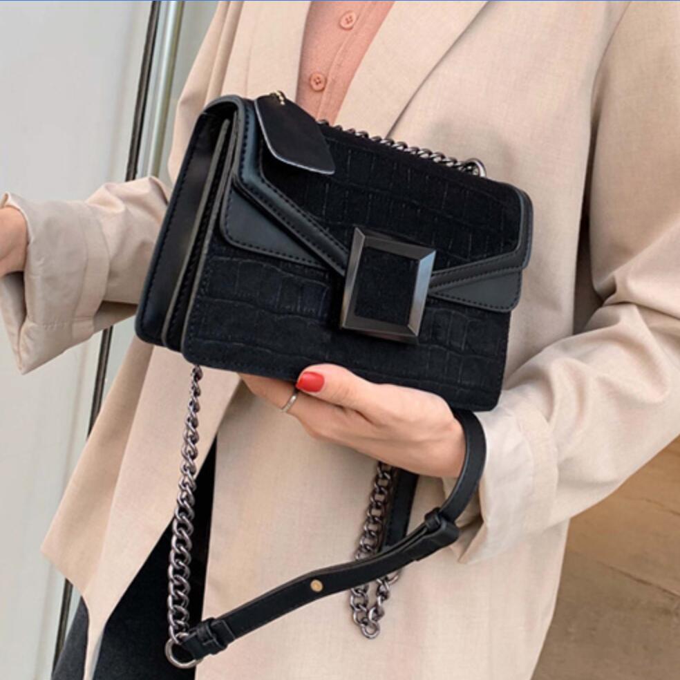 Stone Pattern Square Crossbody Bag 2019 Vintage New Quality Matte Leather Women's Designer Handbag Chain Shoulder Messenger Bag