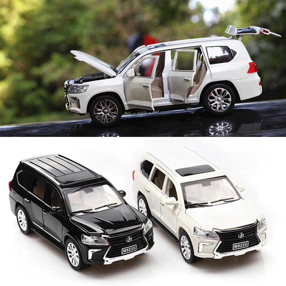 1:24 LX570 Alloy Pull Back Car Model Toy Diecast Metal Model Car Toy With Sound Light For Car Model Enthusiasts Collectors