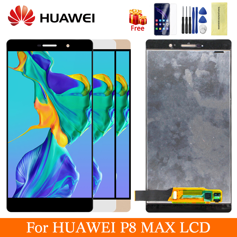 Black Gold White For Huawei P8 Max Display Original LCD Screen Digitizer Assemly Huawei DAV-703L P8 Max Touch Screen Replacement