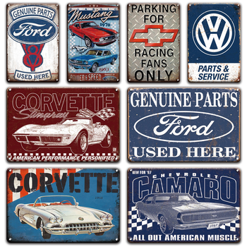 Old Fashion Citroen Car Ford Metal Tin Sign Vintage service & repair Garage Metal Wall Art Poster Signs Garage Home Decoration