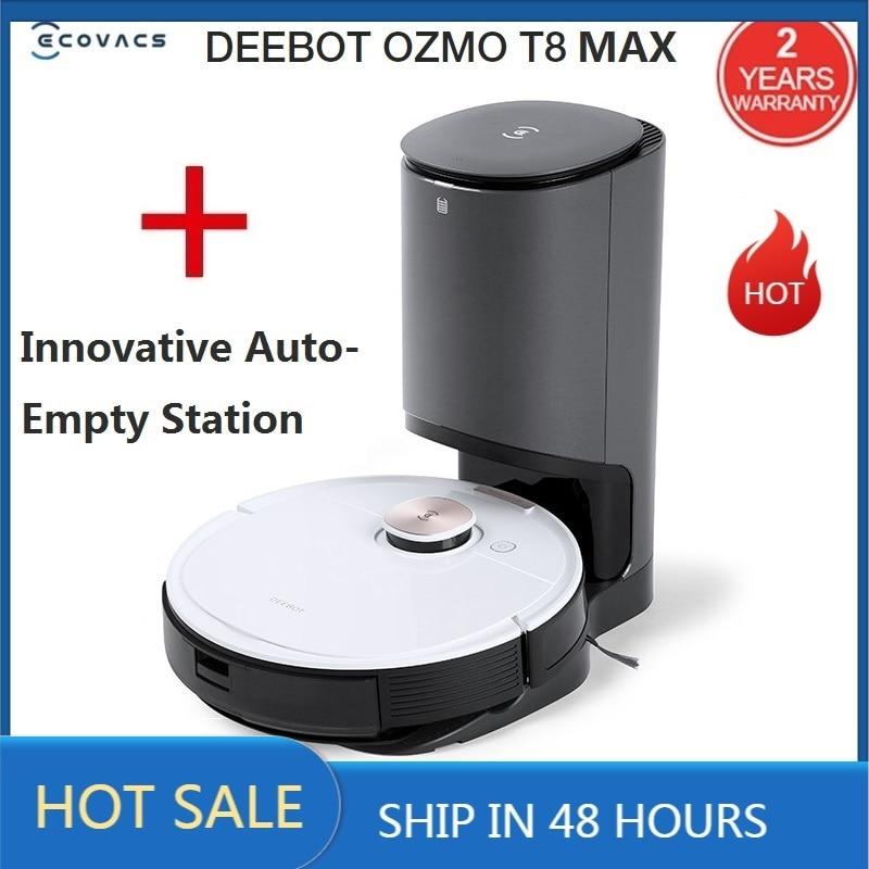 2020 ECOVACS DEEBOT OZMO T8 MAX avec Station de nettoyage automatique innovante Robot aspirateur APP télécommande