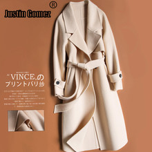 High Quality Warm Thick Female Winter Coat With Belt Women Long Spring Autumn Wool Six Colors Choices Clothes for