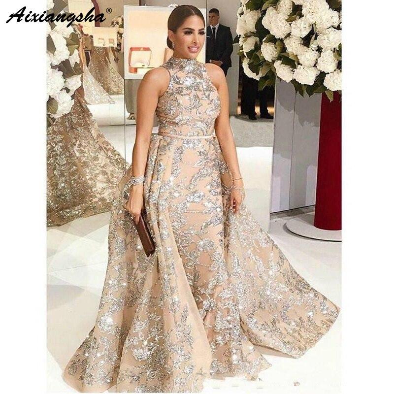 Champion Muslim Evening Dresses 2019 High Neck Mermaid Formal Prom Dress Islamic Dubai Saudi Arabic Long Evening Gown