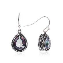 Brincos vintage boêmio moda jóias oco gota de água em forma de liga brincos longos feminino brincos de luxo pendientes #23