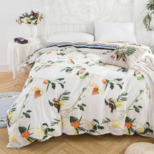 Big Floral Quilts Cover Home Textile Duvet Cover No Filling 100% Cotton Bedding Comforter Cover British Style Stripe Grey Cover