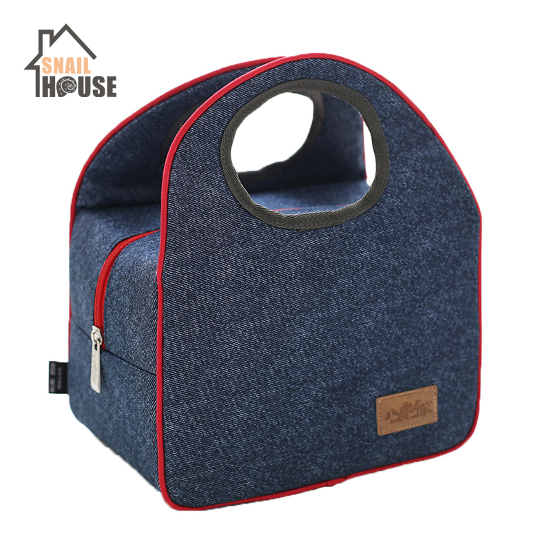 Snailhouse Fashion Oxford Cloth Insulation Bag Aluminum Foil Lunch Bag Portable Picnic Bags Baby Kids Food Storage Thermal Bag