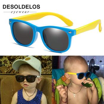 Elastyczne spolaryzowane okulary przeciwsłoneczne dla dzieci dziecko czarne okulary przeciwsłoneczne dla dziewczynek chłopiec okulary przeciwsłoneczne okulary 2-11 lat okulary dla dzieci tanie i dobre opinie DesolDelos Chłopcy Z tworzywa sztucznego Gogle UV400 Lustro DD-G002 Polaroid 46mm 35mm Sunglasses Eyewear Outdoors Sport Bike Travel Christmas Gift Valentine s Day Gift