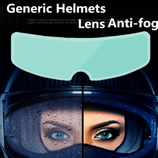 Helmet Clear  Anti-Fog patch film Universal Motorcycle Helmet Lens Fog Resistant Films for K3 K4 AX8 MT Helmets 1