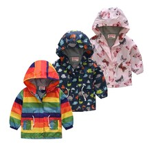 2019 Autumn Winter Jackets  Hooded Boys&girls Kids Coats Jacket Por Baby Overalls Fall Infant Girl Clothes For Girls