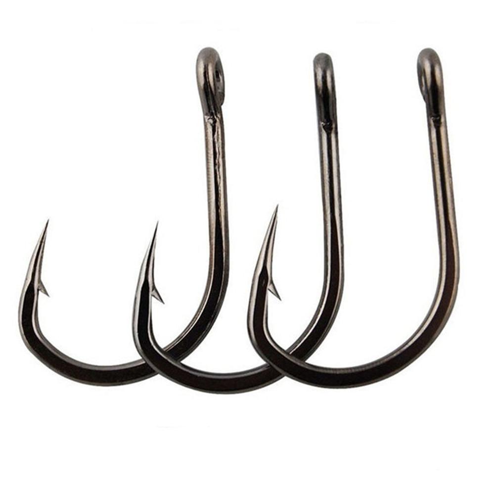 100pcs Fishing Hooks Set Carbon Steel Single Circle Fishhook Fly Fishing Jip Barbed Carp Hooks Sea Tackle Accessories