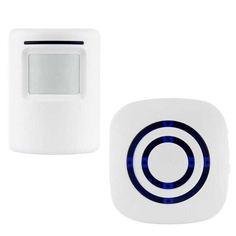 Wireless Motion Sensor Detector Gate Entry Door Bell Welcome Chime Alert Alarm EU/US Plug For Choose R02 Drop ship