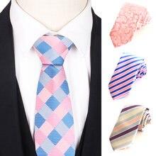 Жаккардовые полосатые галстуки в клетку Классический мужской