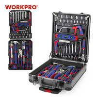 WORKPRO 111PC Tool Set Hand Tool Kit Aluminum Trolley Case Tool Box Set Repair Kit Home Tool Set