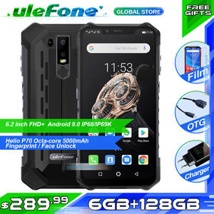 Ulefone Armor 6S Global Version Waterproof IP68 OTG NFC Mobile Phone Otca-core Android 9.0 6GB 128GB wireless charge Smartphone