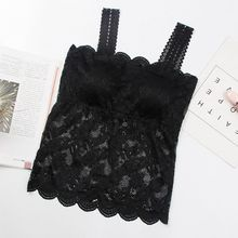 Fashion Hot Crochet Floral Cami Padded Tank Top Cropped Top Women's Bra Sexy Lace Cami Bralette