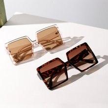Большие Квадратные Солнцезащитные очки в оправе для женщин 2020