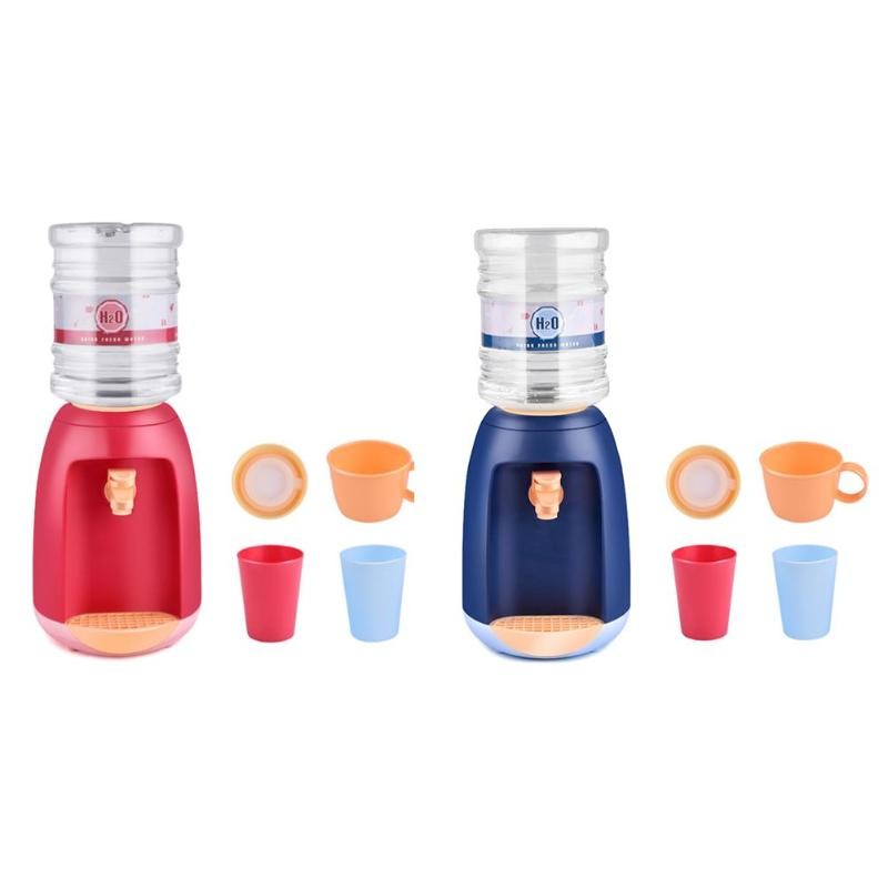 DIY Mini Simulation Water Dispenser Set Toy Kitchen Appliances Pretend Play For Kids Birthday Party Best Gift