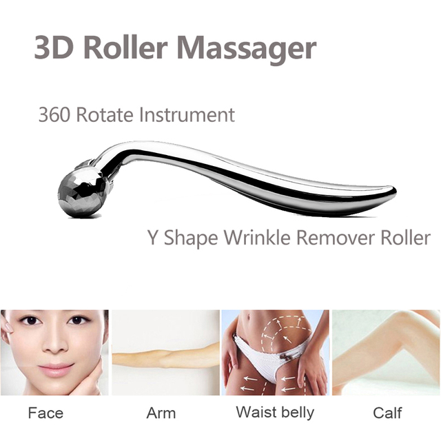 Dr.aelf 3D Roller Massager Y Shape 360 Rotate Thin Face Body Shaping Relaxation Wrinkle Remover Facial Massager Tool 1