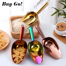Shovel Scoop Buffet Kitchen-Tools Spice Candy Ice-Scraper Stainless-Steel Party Gold