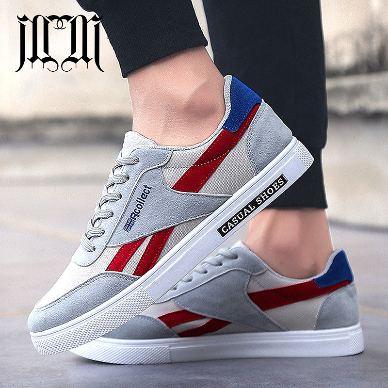 MumuEli Navy Blue Red Gray Black 2019 High Quality Shoes Men Breathable Casual Designer Fashion Luxury Flat Male Sneakers 5901