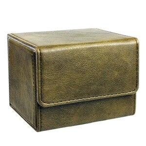Image 5 - Nieuwe Collectie Retro Pu Capaciteit Doos Trading Cards Container Collectie Voor Bordspel Mouw Houder Case