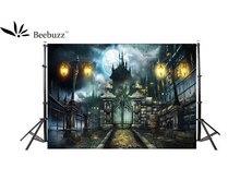 Beebuzz photo backdrop halloween castle cartoon background