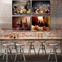 Estilo nórdico, decoración de pared, cuadros de frutas y vino, Bar, comedor, cocina Vintage, carteles e impresiones, cuadro sobre lienzo para pared y caligrafía