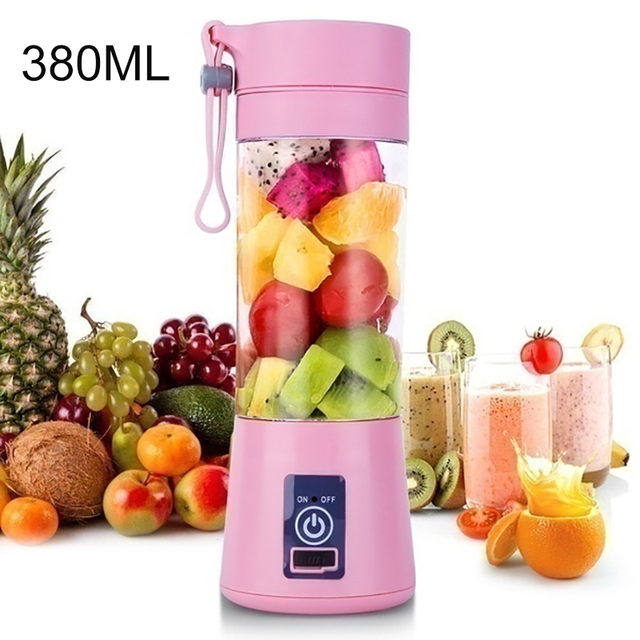 2/4/6 Blades Mini USB Portable Squeeze Fruit Juicer Home Travel Electric Smoothie Juice Maker Blender Machine Portable Water Cup