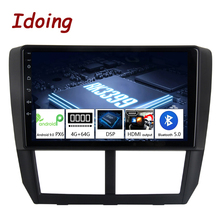 """Idoing 9""""PX6 Car Android 10 Radio Multimedia Player For Subaru Forester 3 SH 2007 2013 4G+64G GPS Navigation 2.5D No 2 din dvd"""