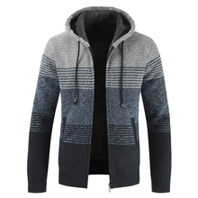 NEGIZBER 2019 Winter Mens Coats and Jackets Casual Patchwork Hooded Zipper Coats