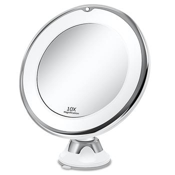 Makijaż lustro kosmetyczne z 10X światła LED lustro lustro do makijażu światło miroir зеркало для макияжа зеркало espelho VIP Dropshipping tanie i dobre opinie DEARKYLIE Wyposażone CN (pochodzenie) as shown Powiększające makeup mirror makeup mirror light makeup mirror 10x led makeup lights